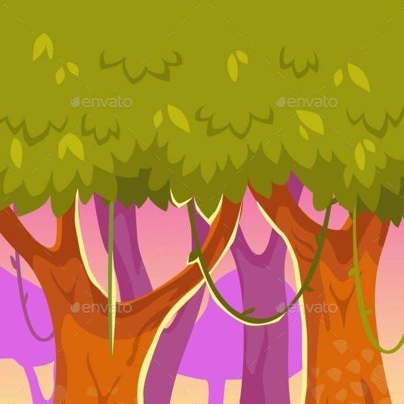 Cartoon Forest Illustration