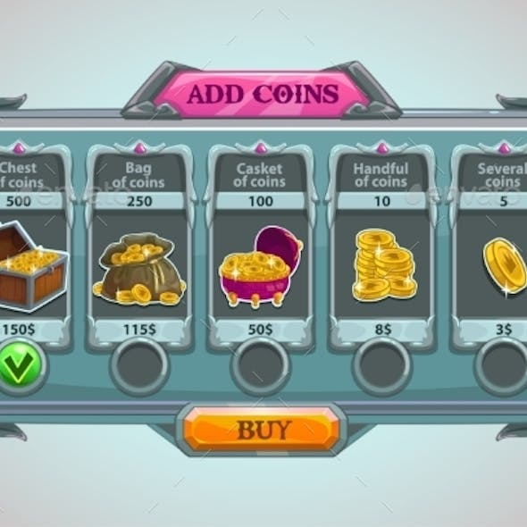 Add Coins Panel