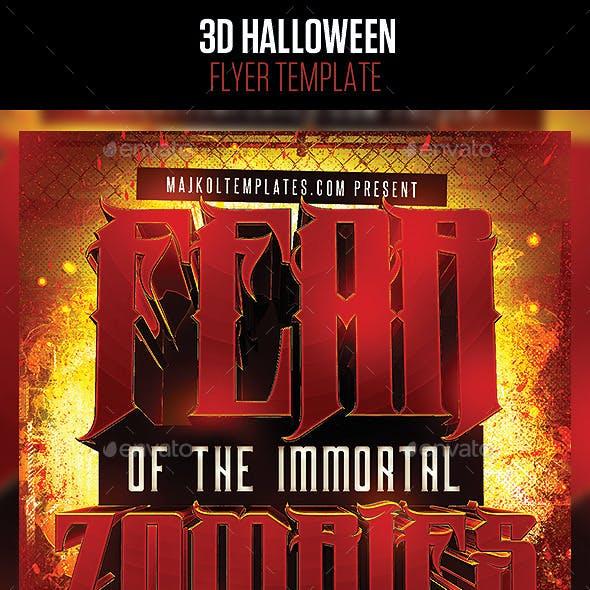 3D Halloween Flyer