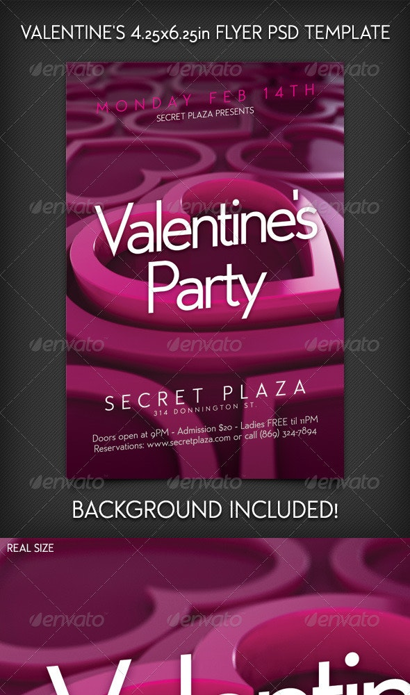Valentine's Flyer Template - Clubs & Parties Events