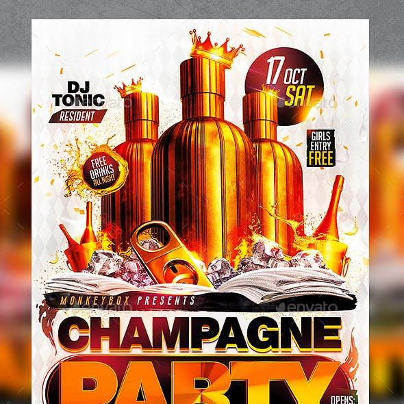 Flyer Champagne Party Konnekt