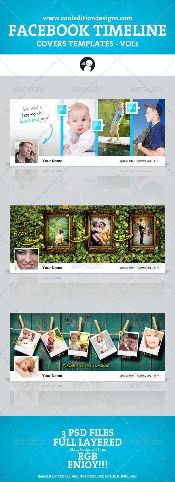 Facebook Timeline Covers Templates VOL1 - Facebook Timeline Covers Social Media