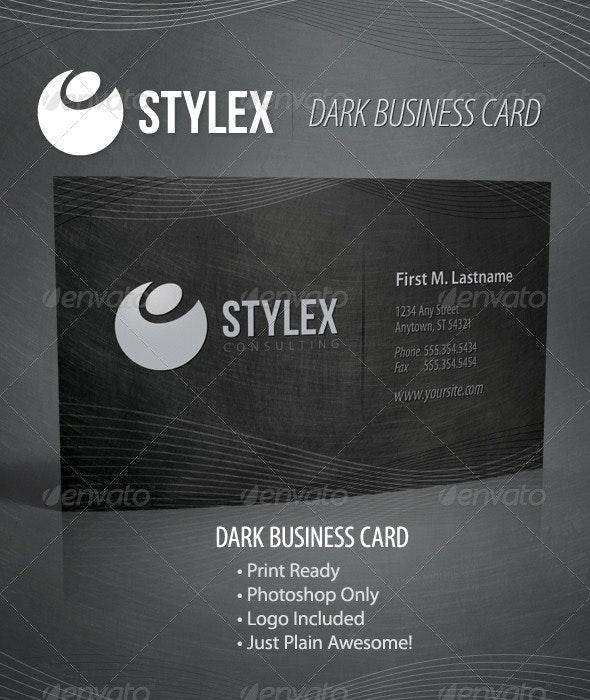 Stylex - Dark Business Card - Business Cards Print Templates