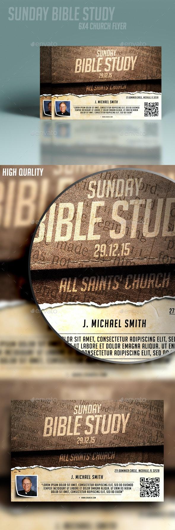 Sunday Bible Study - Church Flyers