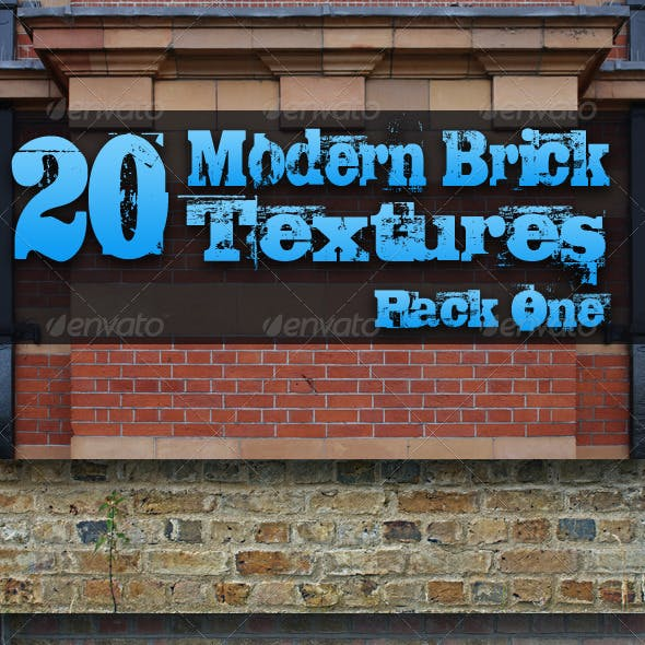 20 Modern Brick Textures - Pack One
