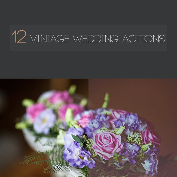 12 Vintage Wedding Actions