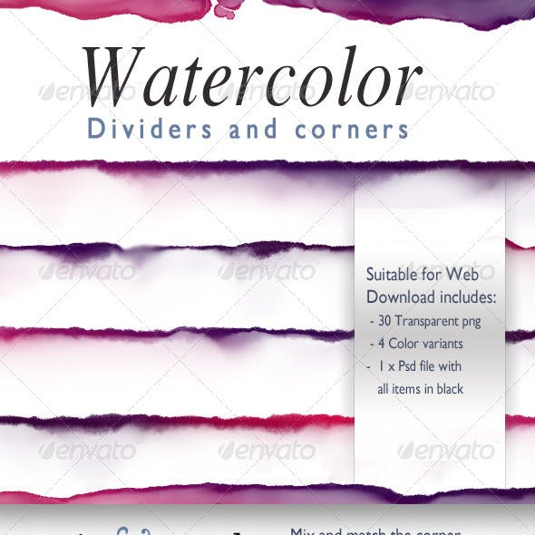 Watercolor Dividers