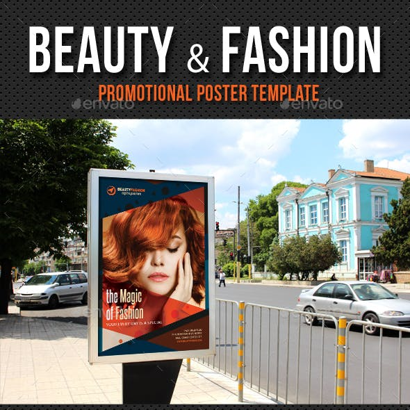 Beauty and Fashion Poster Template V03