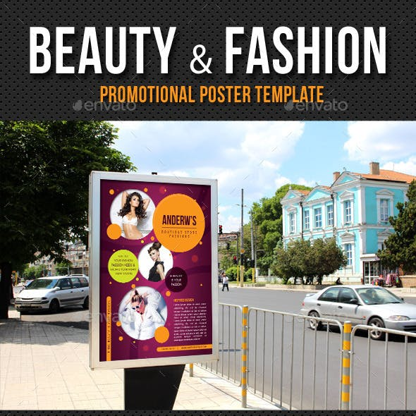 Beauty and Fashion Poster Template V04