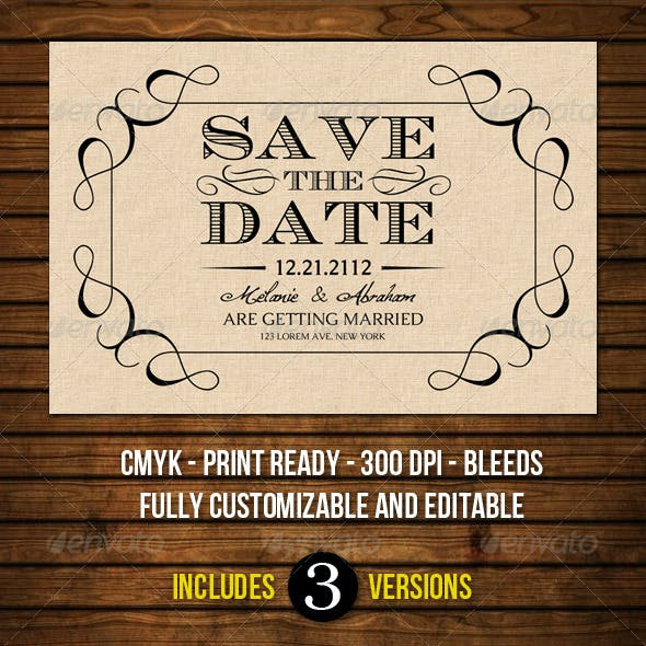 Old Vintage Save The Date Cards
