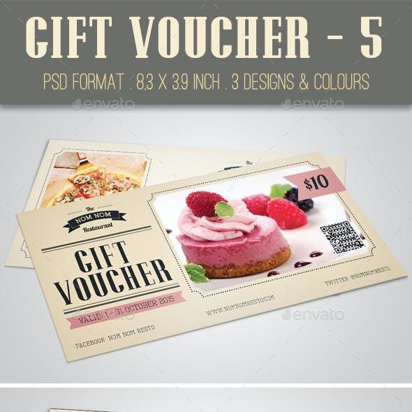 Gift Voucher - 5