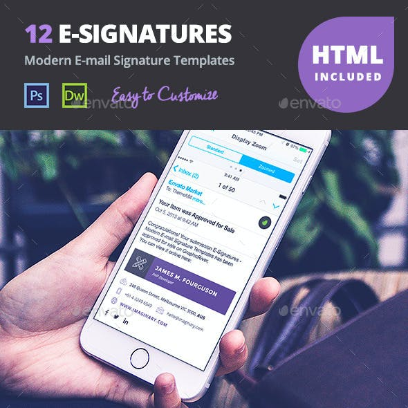 12 Professional E-mail Signature Templates