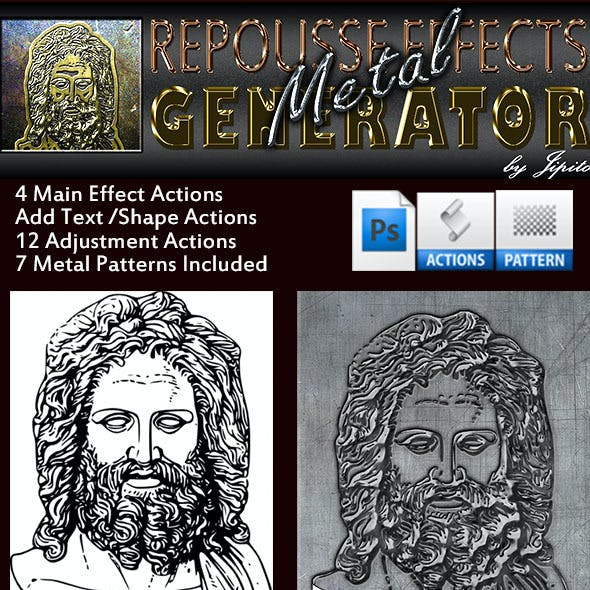 Metal Repousse Effects Generator