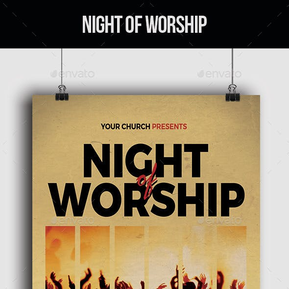 Night of Worship - Flyer