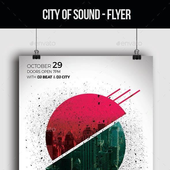 City of Sound - Flyer