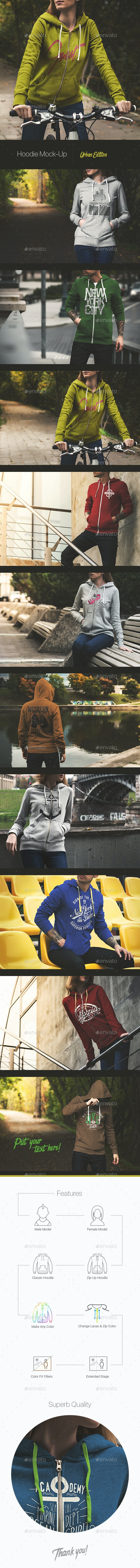 Hoodie Mock-Up / Urban Edition - Miscellaneous Apparel