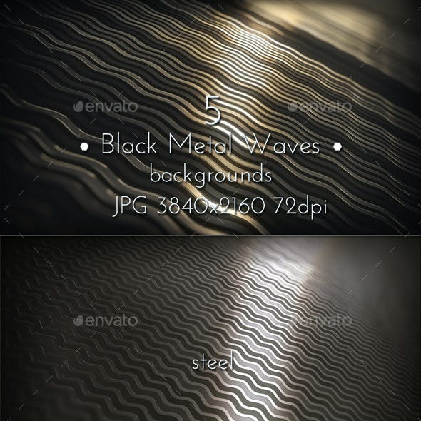 Black Metal Waves Pattern