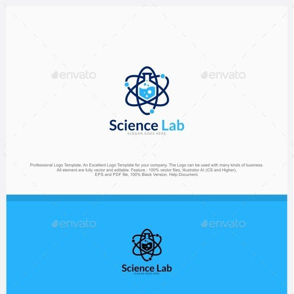 Science Lab - Atomic Lab Logo