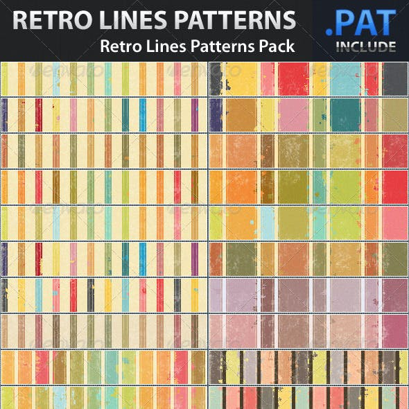 Retro Lines Patterns Pack