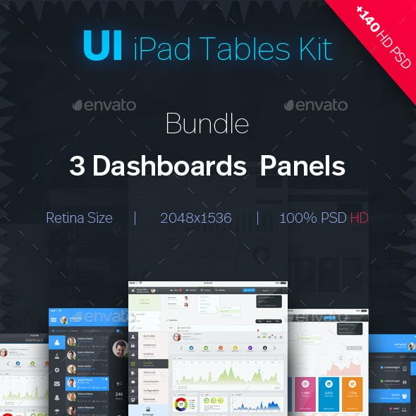 UI Bundle | 3 Tables App Dashboard Kit