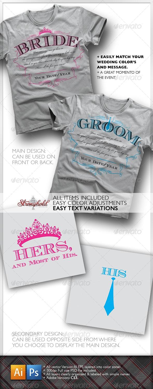 Bride & Groom T-Shirt - Events T-Shirts