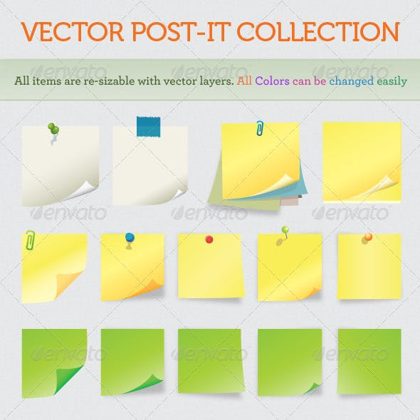 Notes and post-it collection