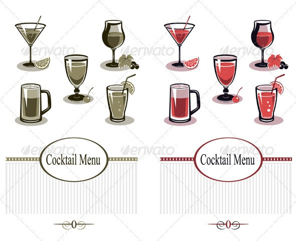 Summer Drinks Set - Food Objects