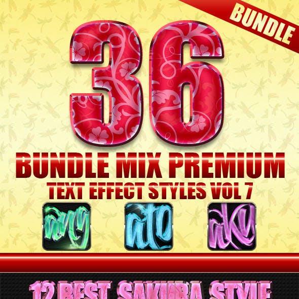 36 Bundle Mix Premium Text Effect Styles Vol 7