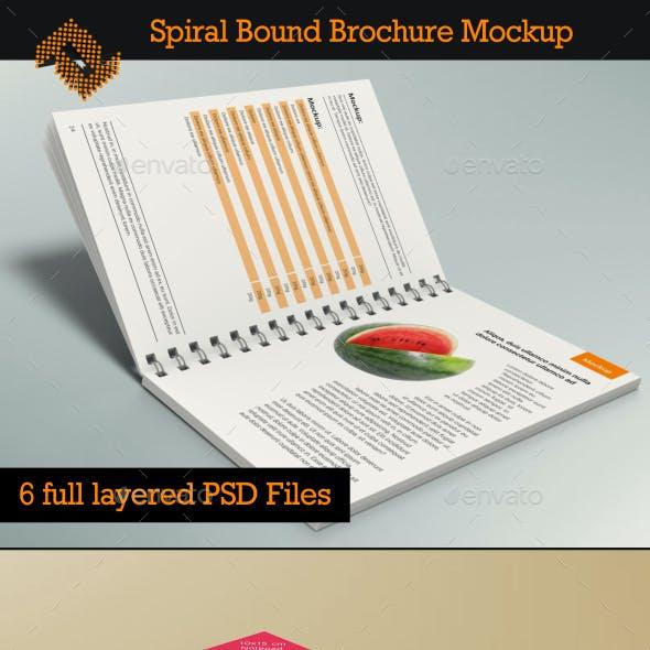 Spiral Bound Brochure / Notepad Mockup