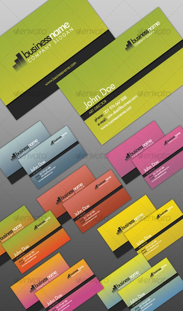 Elegant Color Mix Business Cards - Corporate Business Cards