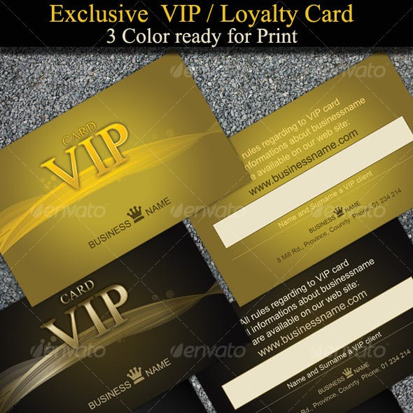 Exclusive and Stylish VIP-Loyalty Cards