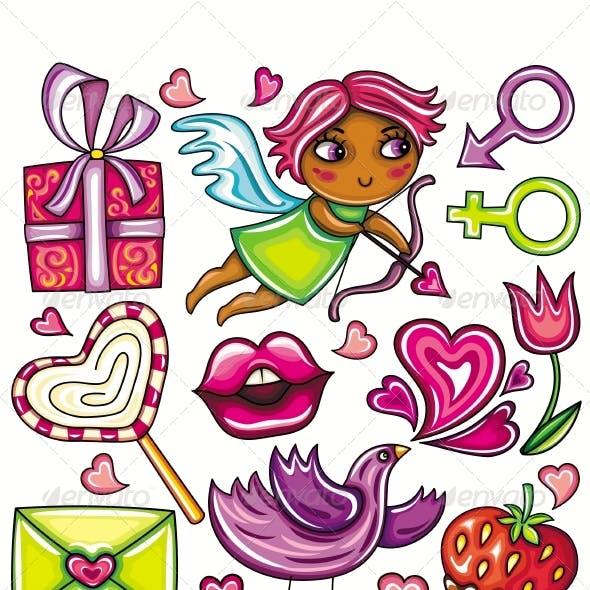 Valentine's Day cute little set