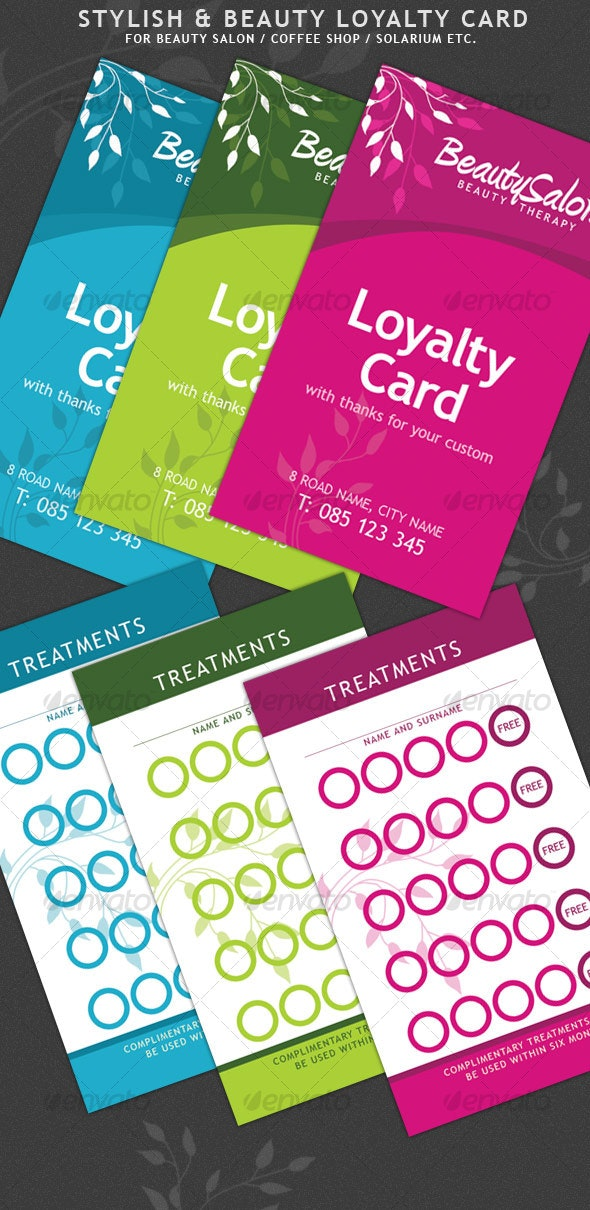 Beauty and Stylish Loyalty Cards - Loyalty Cards Cards & Invites