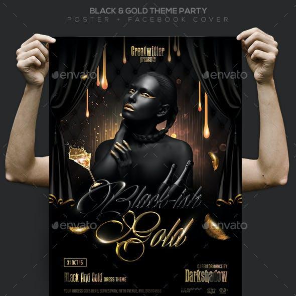 Black & Gold Party Flyer / Poster / Facebook