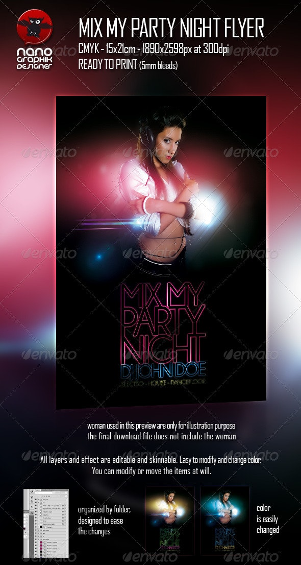 Mix My Party Night Flyer - Clubs & Parties Events