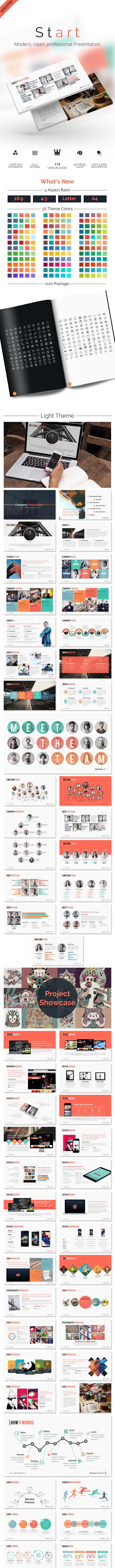 START Powerpoint - Modern Clean Presentation - Abstract PowerPoint Templates