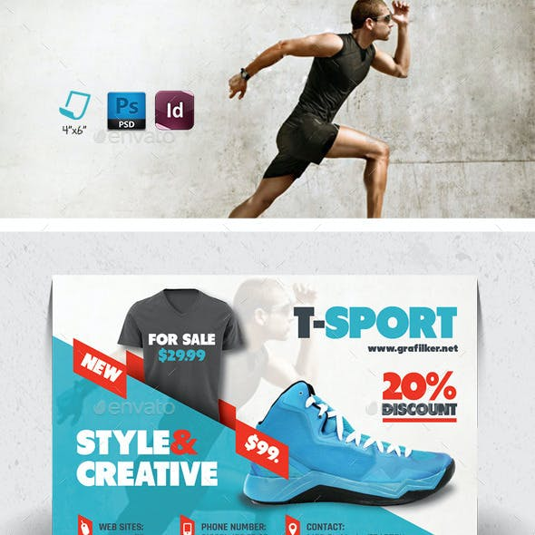 Sport Shop Postcard Templates