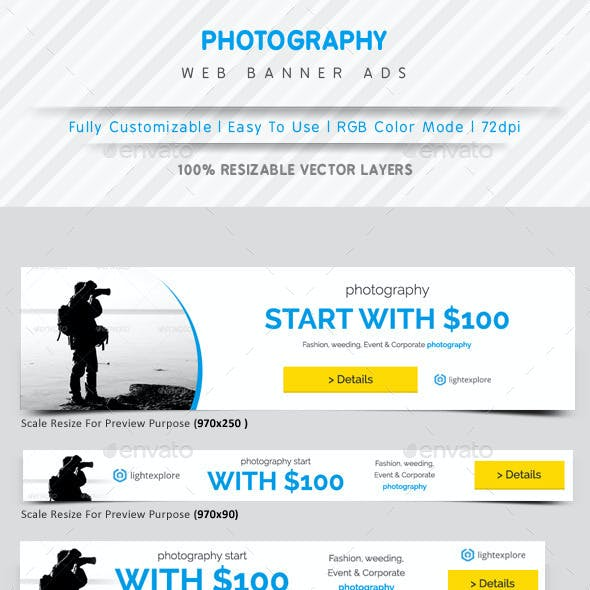 Photography Web Banner Ads