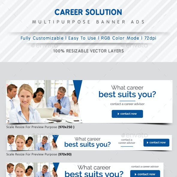 Career Solution Web Banner Ads