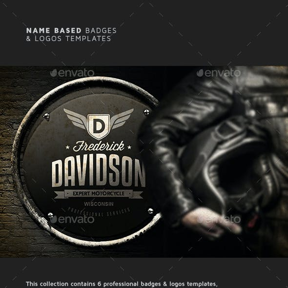 Name Based Badges & Logo Templates