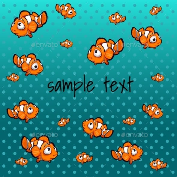 Striped Orange Fish With Space For Text
