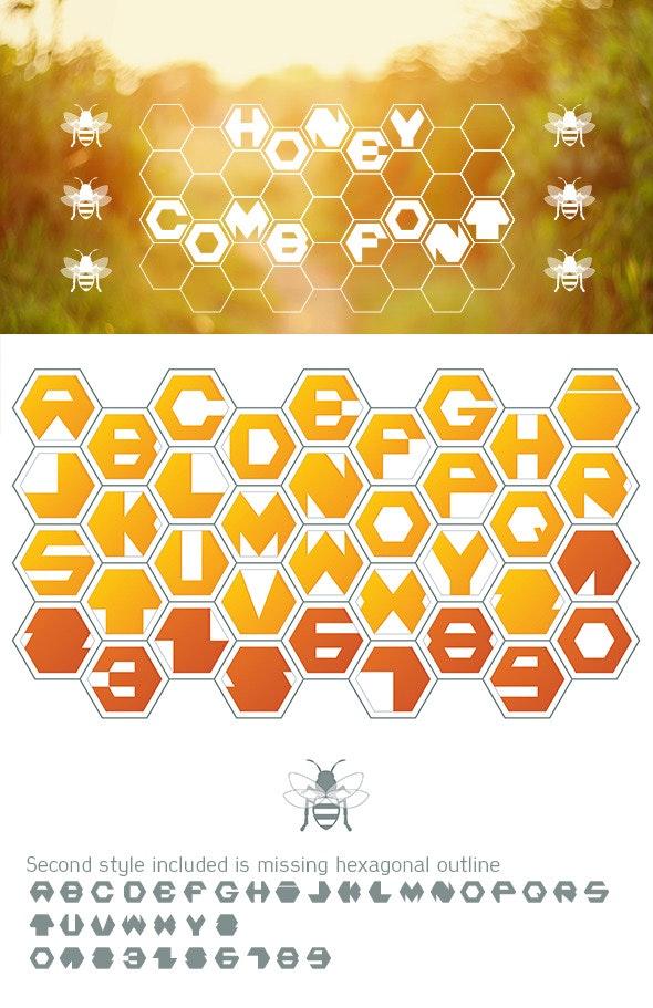 Honey Comb Font - Monospaced Sans-Serif