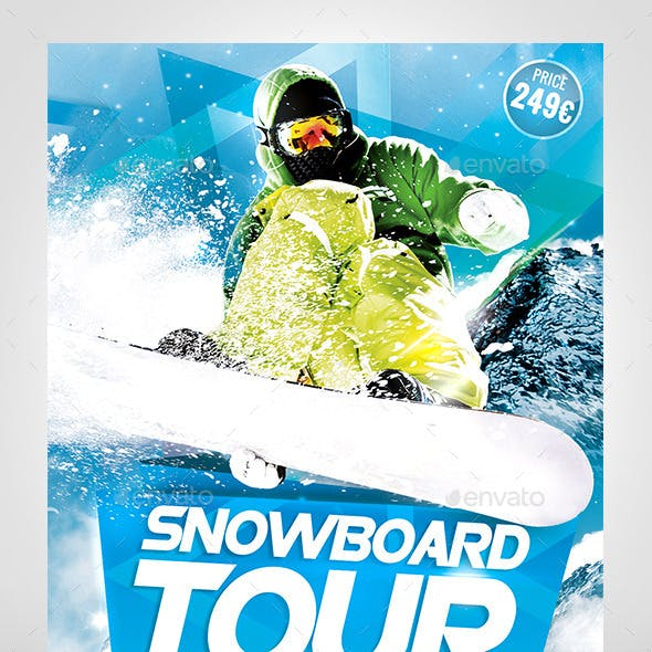 Snowboard Tour Flyer