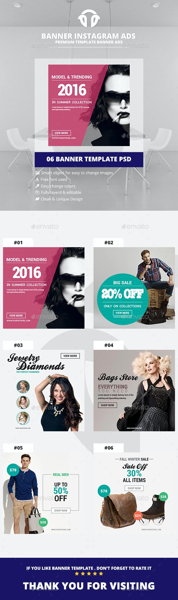 Instagram Ads - Shopping Banners - Miscellaneous Social Media