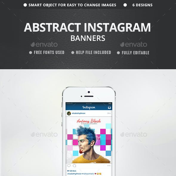 Abstract Instagram Banners - 6 Designs