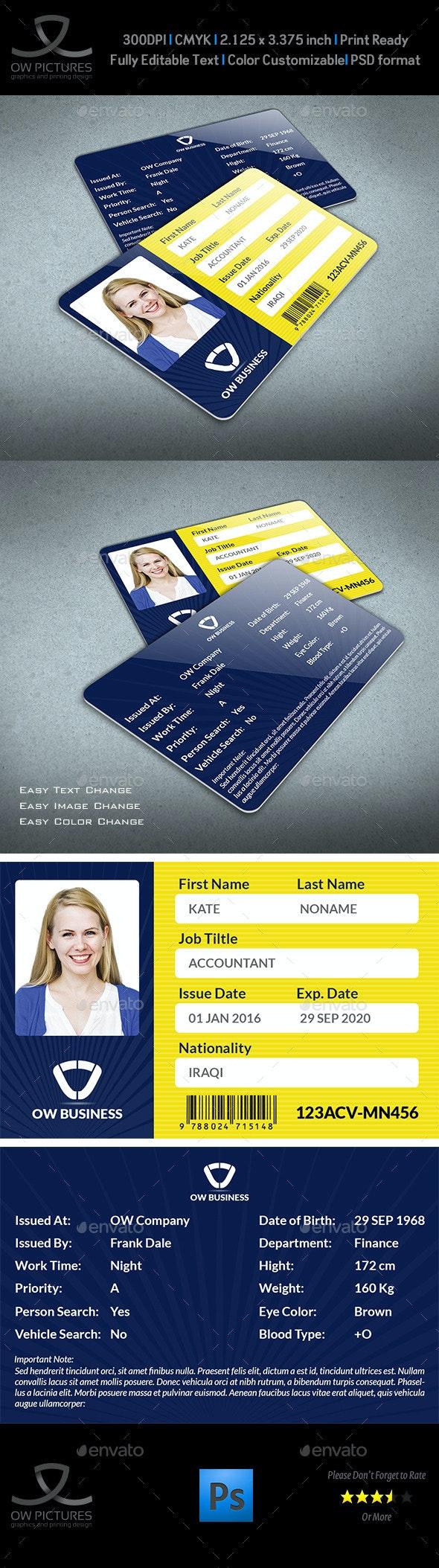 Multipurpose Business ID Card Template Vol.2 - Miscellaneous Print Templates