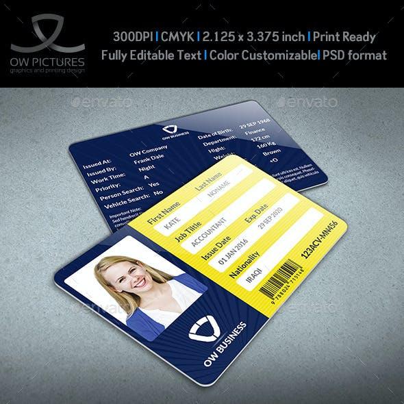 Multipurpose Business ID Card Template Vol.2