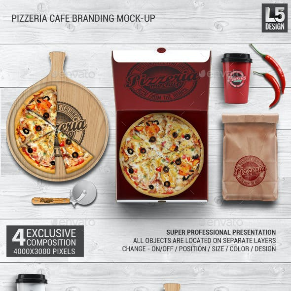 Pizzeria Branding Identity Mock-up