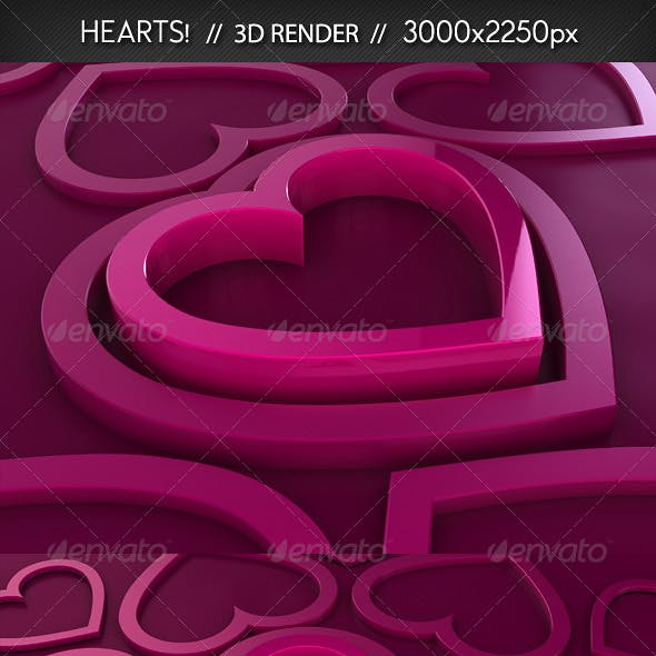 Hearts // 3D Renders
