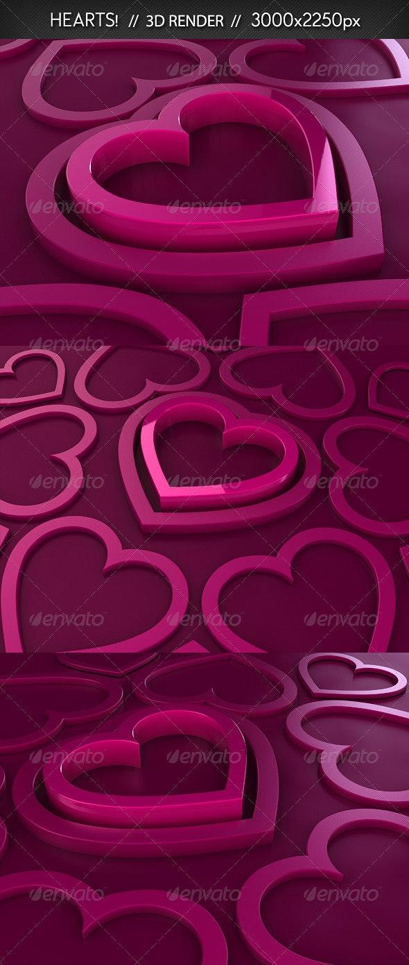 Hearts // 3D Renders - Miscellaneous 3D Renders
